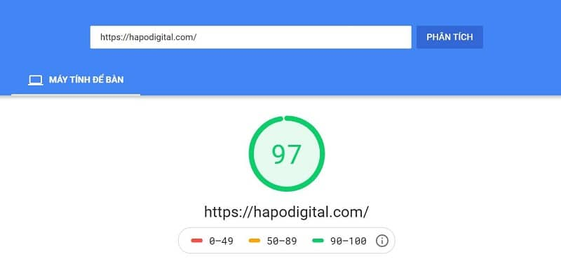Google Speed Insight HapoDigita
